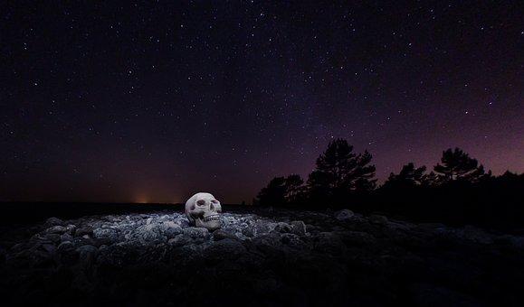 Skull, Stars, The Milky Way, Sake, Pebble Beach