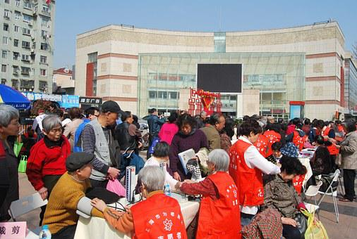 Shanghai, Community, Activities, Old Age, Free Clinics