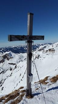 Schochen, Summit Cross, Summit, Winter Sports, Winter