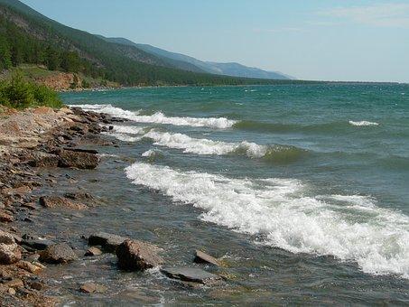 Baikal, Water, Beach, Nature, The Siberian Lake
