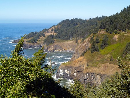 Captain Cook's, Landing Site, Oregon, Usa, Coast