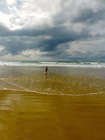 Child, Boy, Sea, Water, Sky, Holiday, Natural, Vacation
