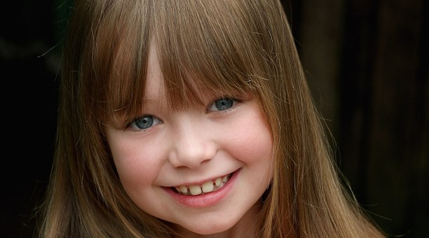 The Little Girl, A Smile, Bangs, Connie Talbot