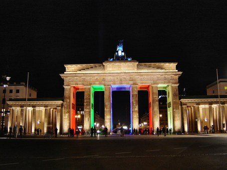 Brandenburg Gate, Berlin At Night, Berlin
