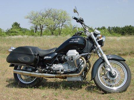 Engine, Motoguzzi, Motorcycle, Bobber, Black Engine