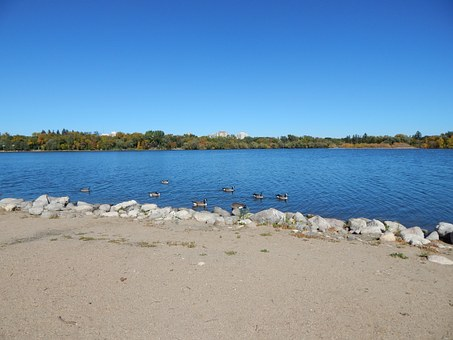 Sand, Lake, Beach, Water, Blue, Nature, Tranquil, Shore