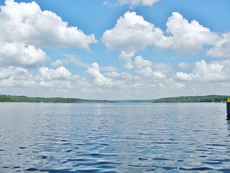 Lake, Water, Clouds, Blue, Nature, Landscape, Mood