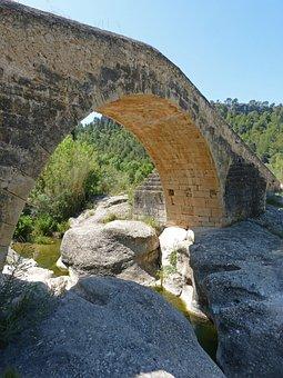 Bridge, Stone Bridge, Romanesque, Buttress, River