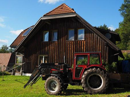 Tractor, Bulldog, Tractors, Front Loader, Home, Meadow