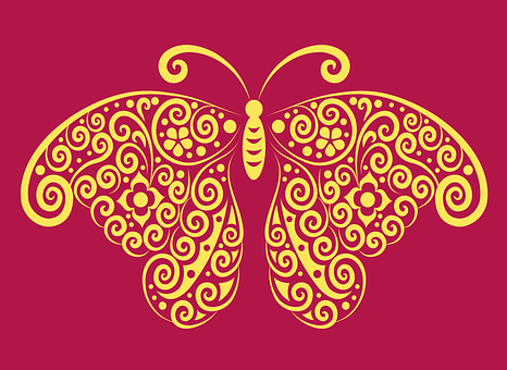 Butterfly, Insect, Bug, Decoration, Decorative, Brush
