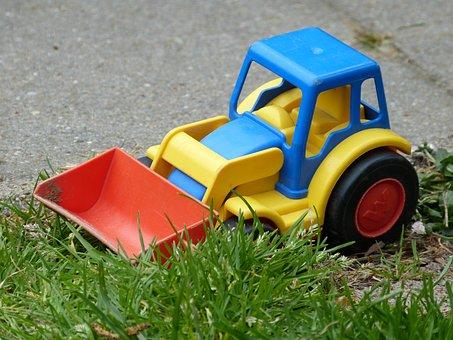 Children, Toys, Front Loader, Plastic, Sand Toys