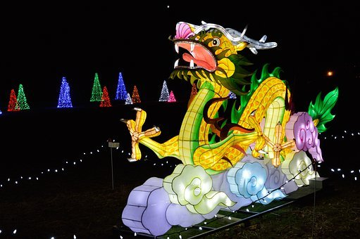 Dragon, Festival Of Lights, Holiday, Chinese
