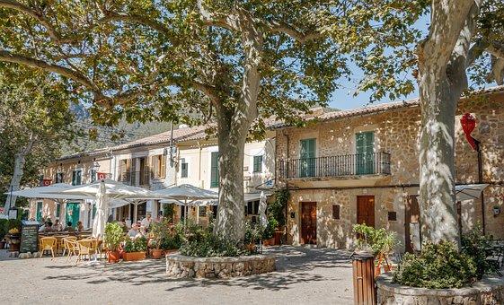 Valldemossa, Majorca, City, Old Town, Sitting