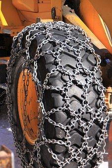 Backhoe, Cold, Digger, Snowplow, Loader, Snow, Tractor
