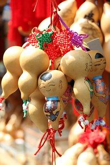 Festival, Doll, Bottle Gourd, China