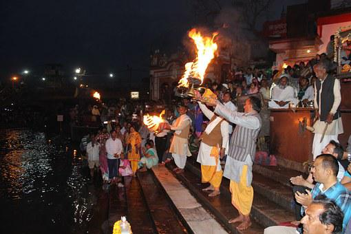 Aarti, Ganga, Haridwar, Uttarakahand, India, Hinduism