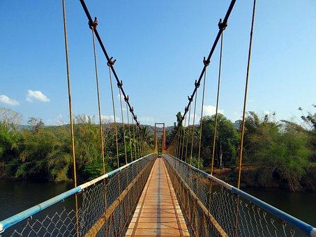 Hanging Bridge, Gangavali River, Rope Bridge, Ramanguli