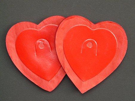 Heart, Love, Red, Garland, Herzchen, Romance, Luck