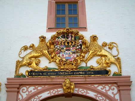 Architecture, Gold, Lion, Coat Of Arms, Kursachsen