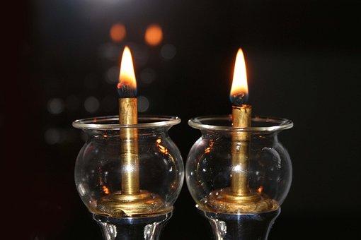 Candles, Light, Gloomy, Longing, Hanukkah, Judaism