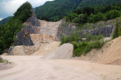 Quarry, Quarrying, Stones, Crash, Overburden, Removal