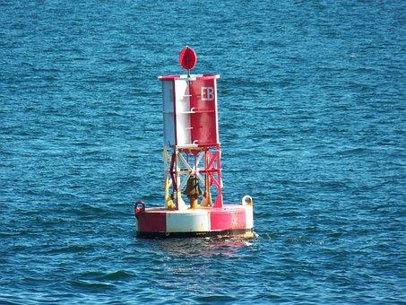 Buoy, Buoy Marker, Ocean, Sea, Sea Buoy, Tide