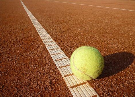 Tennis Ball, Tennis Court, Tennis, Yellow, Ball, Sports