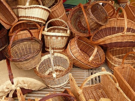 Wicker, Baskets, Weave, Willow, Braided Material, Craft