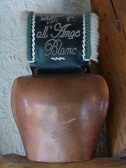 Bell, Cowboy, Large, Bimmeln, Brass