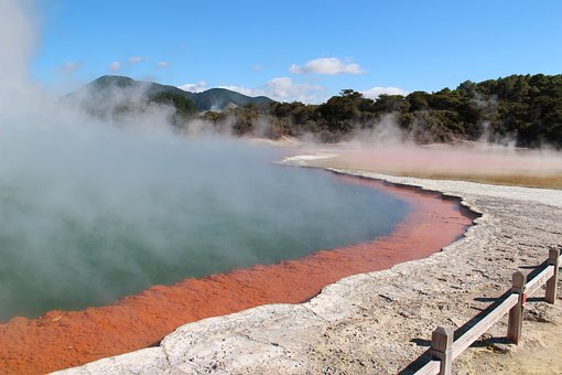 New Zealand, Volcano Area, Rotorua, Source, Hot Source