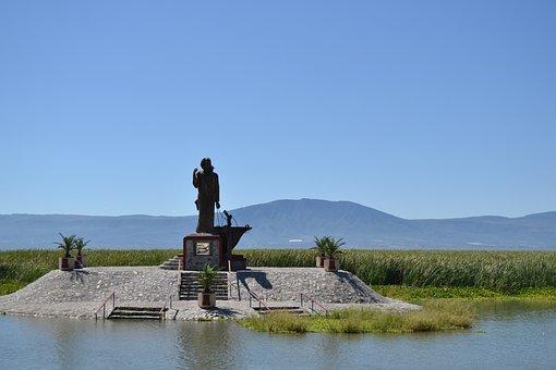 Backlight, Island, Lake, Chapala, Landscape, Jalisco