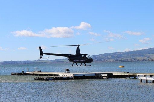 Helicopter, Rotorua, Lake