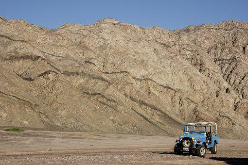Egypt, Dahab, Mountains, Auto, Landcruiser