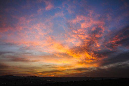 Sunset, Reflex, Evening, Light, Sky, Landscape
