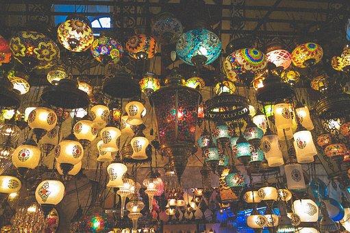 Lamps, Lights, Grand Bazaar, Shop, Market, Istanbul