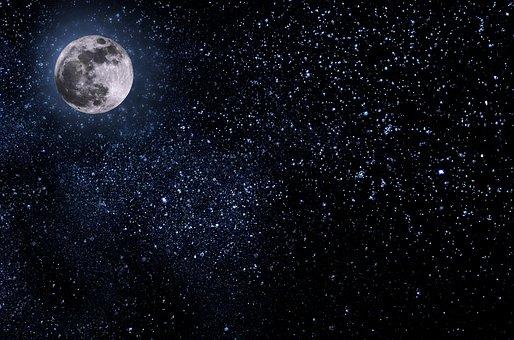 Night, Sky, Moon, Stars, Midnight, Halloween, Dark