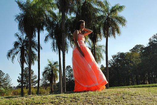 Dress, Orange, Quinceanera Dress, Fashion, Prom Dress