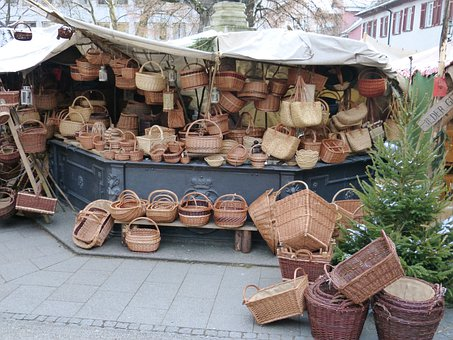 Market, Sale, Sales Stand, Stand, Basket, Baskets