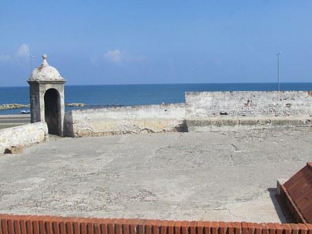 Colombia, Cartagena De Indias, Walled City, Sea