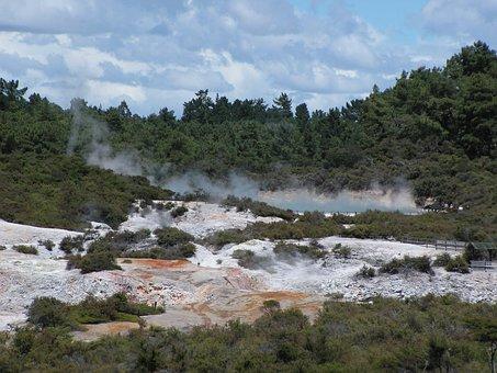 Hot, Rotorua, New, Zealand, Heat, Natural, Spring