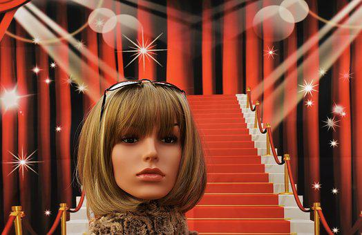 Red Carpet, Stairs, Glamour, Woman, Pretty, Chic