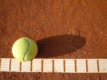 Tennis Court, Tennis, Yellow, Tennis Ball, Ball, Sports