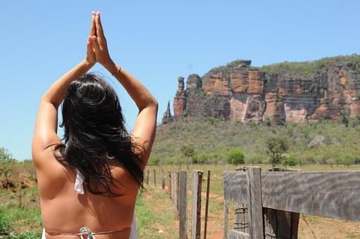 Pray, Woman, Landscape, Serra Do Roncador