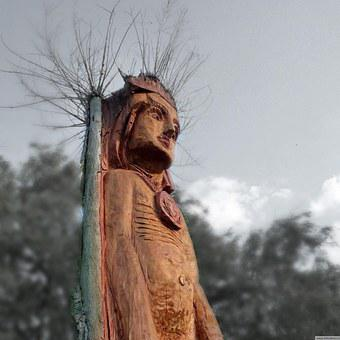 Dřevotvor, Wood Sculpture, One, Chainsaw