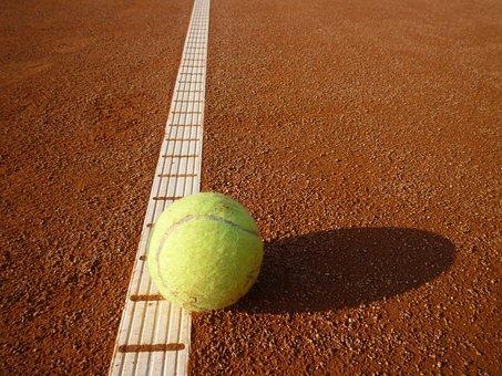 Tennis, Tennis Court, Yellow, Tennis Ball, Ball, Sports