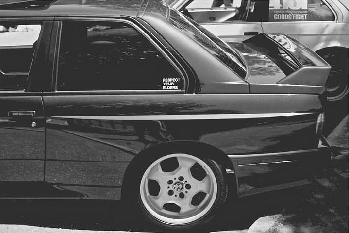 Bmw, Car, Decal, Automotive, Black And White