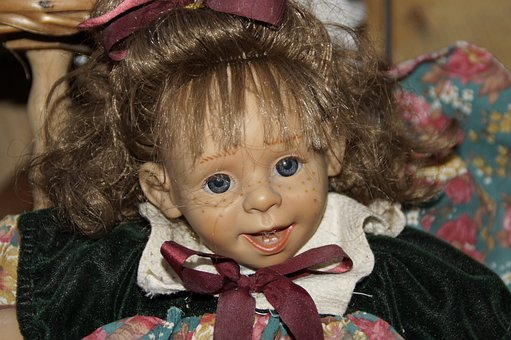 Doll, Artist Doll, Face, Cheeky, Girl, Child, Freckled