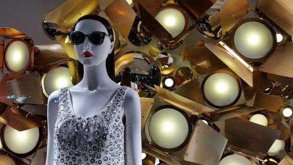 Window, Deco, Cannes, Dress, Doll, Glasses