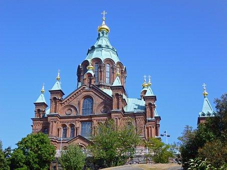 Uspenski Cathedral, Helsinki, Finland, Church