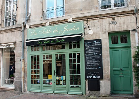 Green Door, French Cafe, Street Cafe, France, City Cafe